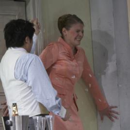 Fredegunda im Prinzregentheater. Sopran Bianca Koch als Galsuinde.